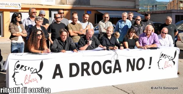 #Corse – A DROGA NÒ ! Conférence de presse de Corsica Libera à Aiacciu