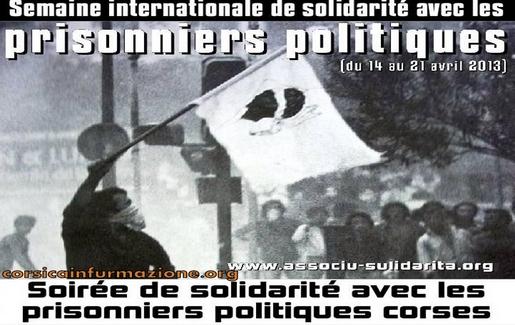 """#corse – Sulidarità à l'initiative, à Paris, de l'organisation de la """"semaine de la solidarité"""" avec les prisonniers politiques"""